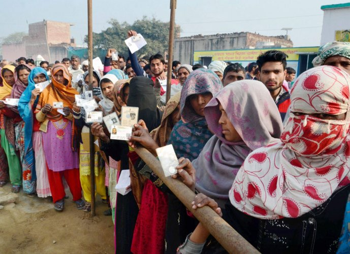 Peaceful polling in UP, Uttarakhand