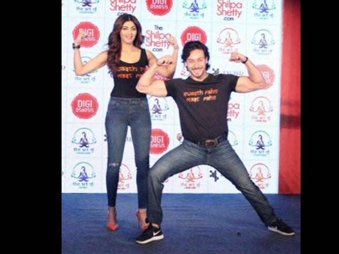 Shilpa admires Tiger Shroff's fitness and dedication