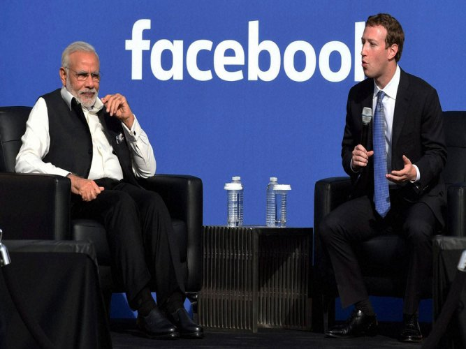 Zuckerberg invokes Modi's knack for social media in governance