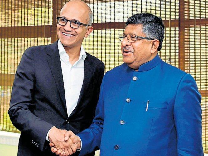 Nadella, Prasad meet to discuss opportunities