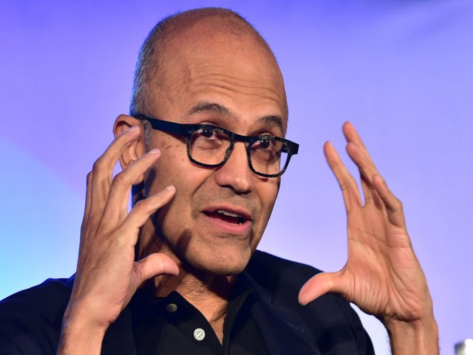 Nadella pitches for poor, unveils tech for semi-skilled