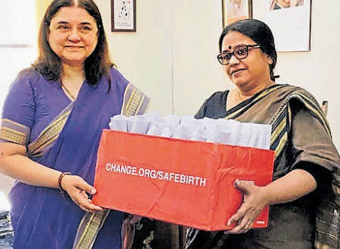 Minister Maneka favours curbs on caesarean delivery