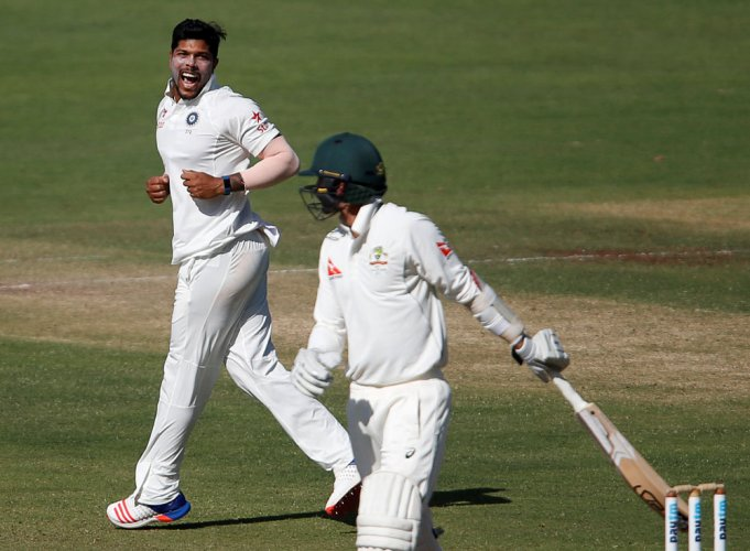 Umesh shines but defiant Starc takes Australia to 256/9