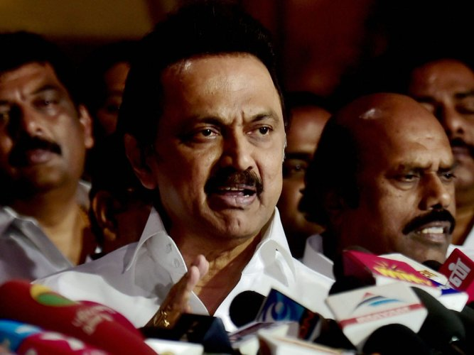 Stalin leaves for Delhi, to meet Prez over TN trust vote