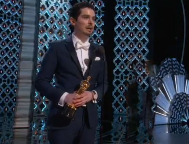 """Damien Chazelle wins best director Oscar for """"La La Land"""""""