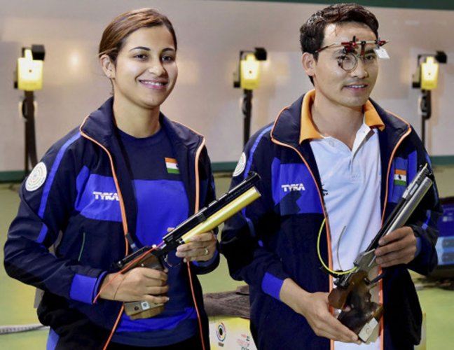 India's Jitu-Heena win mixed event for 10m air pistol