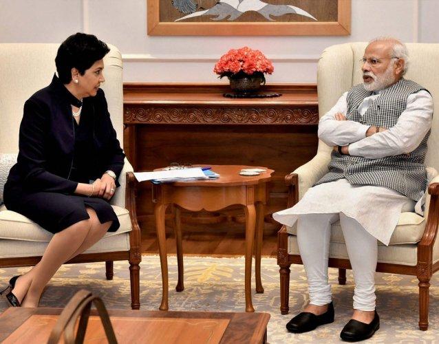 Nooyi assures India to help meet development goals