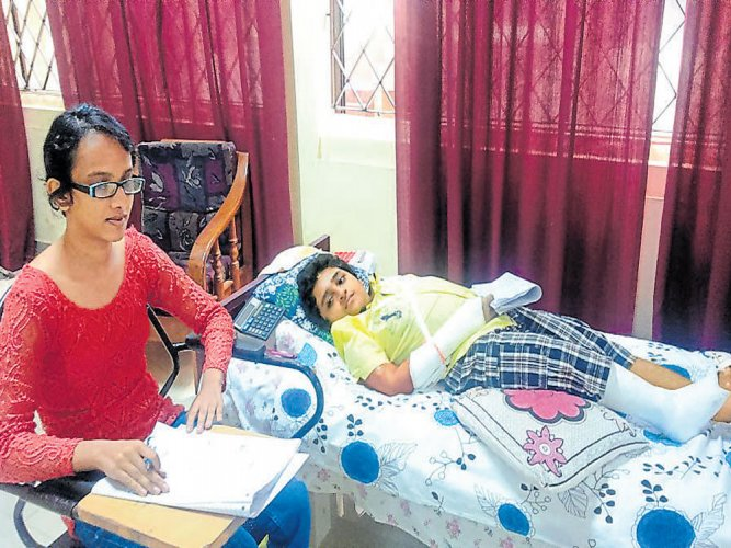 Disease does not deter him from writing exam