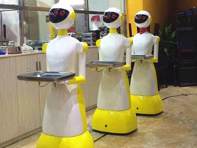 Pak eatery uses robot 'waitress' to serve diners