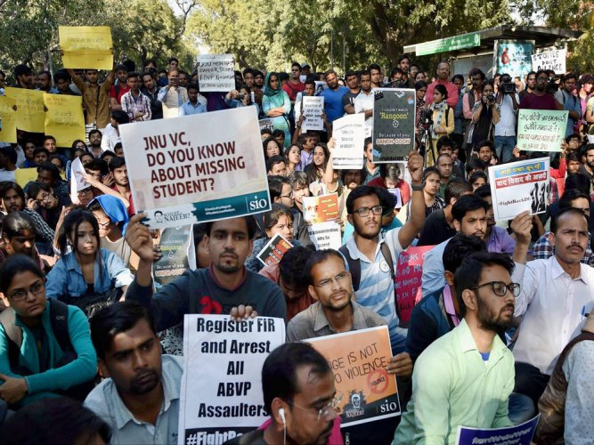 Protests refuse to die down, another march staged over DU violence