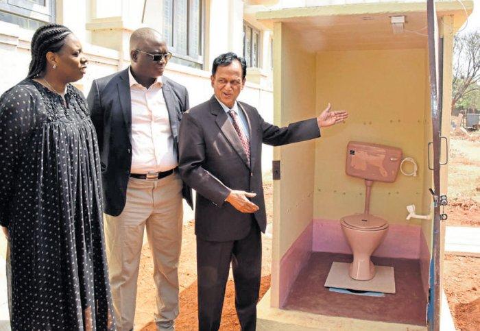 Engineer's toilet model impresses Senegal town's mayor