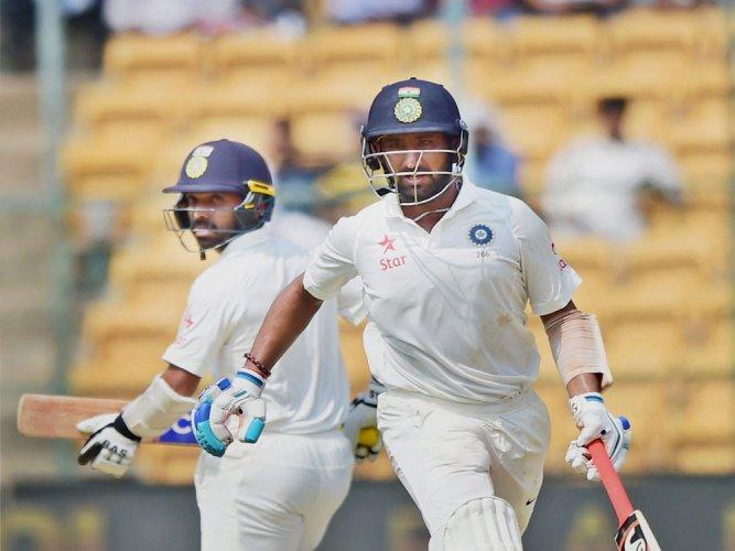 Pujara, Rahul shine as India fightback with 126-run lead