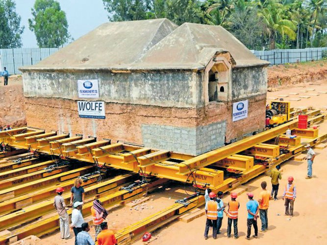 Tipu's armoury moves 20 metres towards its new location