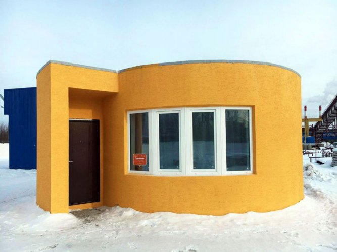 Cozy home 3D printed in less than 24 hours in Russia