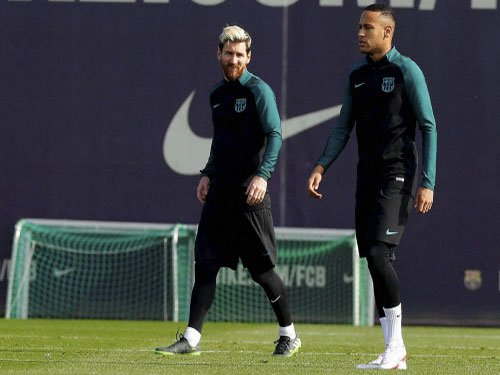 Neymar steps out of Messi's shadow to fuel treble talk