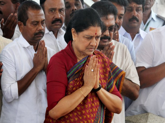 Sasikala writes to EC on her appointment