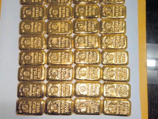 Gold bars worth Rs 41 lakh seized