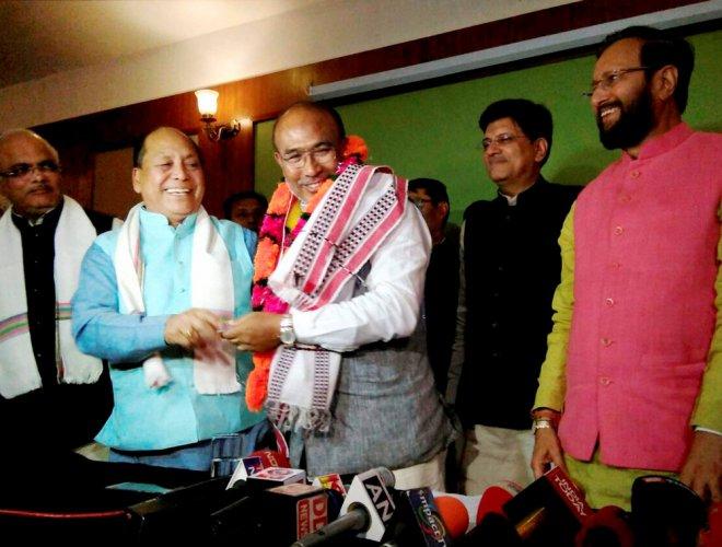 Biren Singh elected leader of BJP legislature party in Manipur
