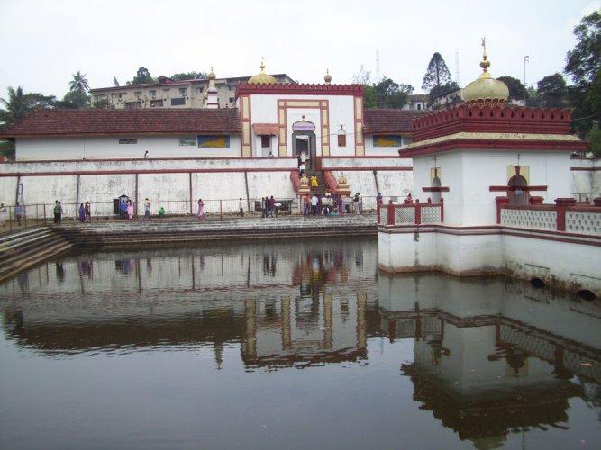 Temple with a distinct architecture