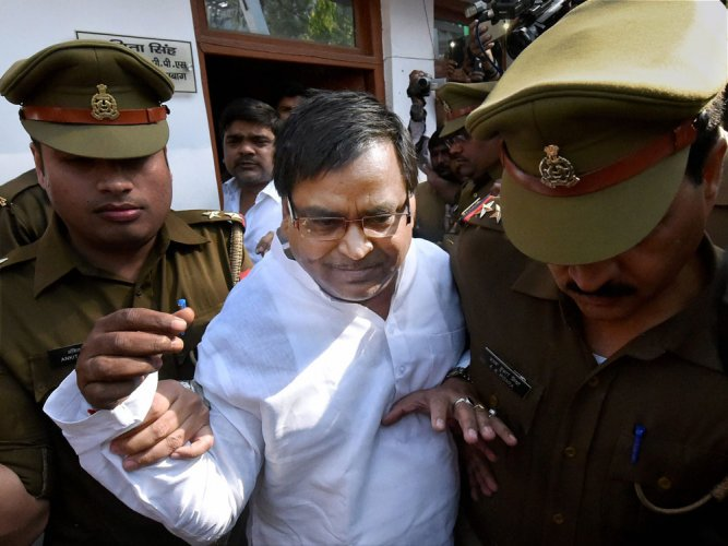 Absconding UP minister Gayatri Prajapati arrested in Lucknow