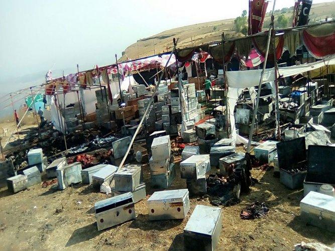 'Padmavati' film set vandalised, costumes set ablaze