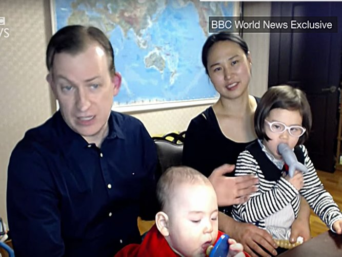 BBC interview dad: 'My wife deserves a medal'