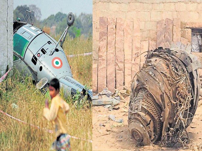 IAF's Sukhoi, copter crash on same day