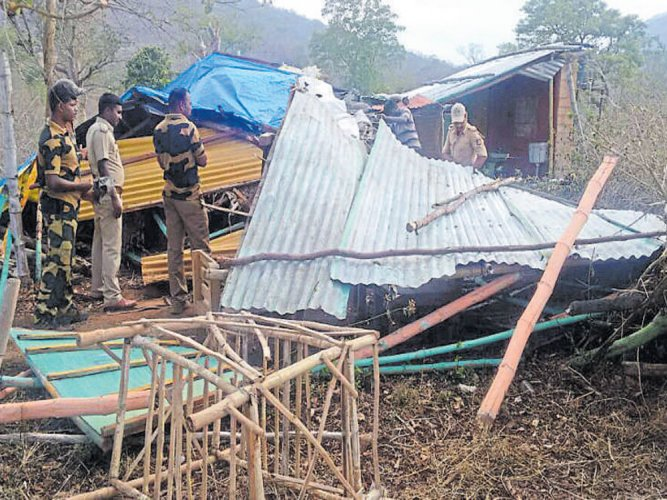 Former BJP MLC's resort land recovered, structures razed