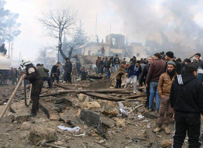 Air strikes on north Syria mosque kill 42: monitor