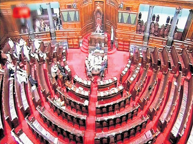 Cong forces adjournment in RS protesting Goa Guv's role