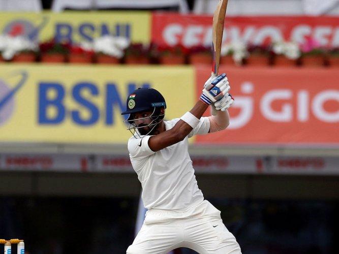 India reach 120/1 after Smith takes Australia to 451