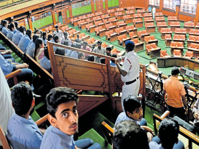 Assembly adjourned till Monday amid  din over diary