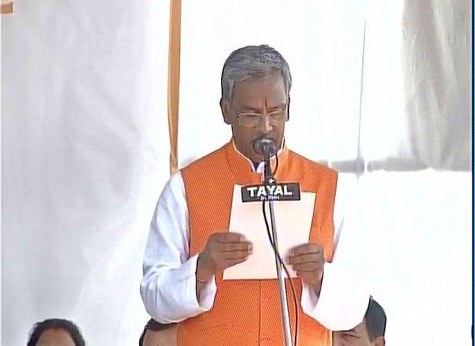 Trivendra Singh Rawat sworn in as Uttarakhand CM