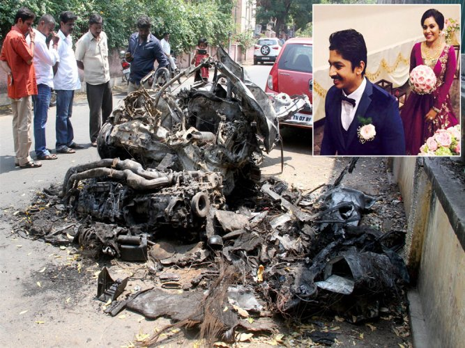 Car racer, wife charred to death in road accident