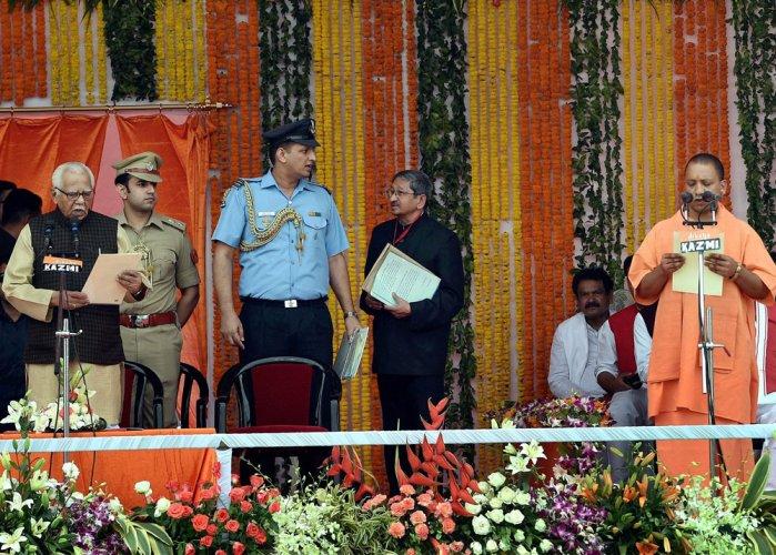 Yogi Adityanath sworn in as UP CM; heads 47-member team