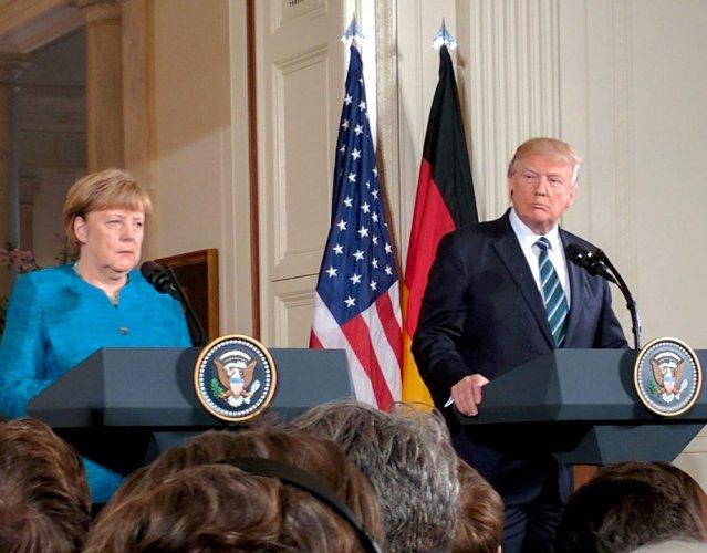 Trump did not refuse to shake Merkel's hand: spokesman