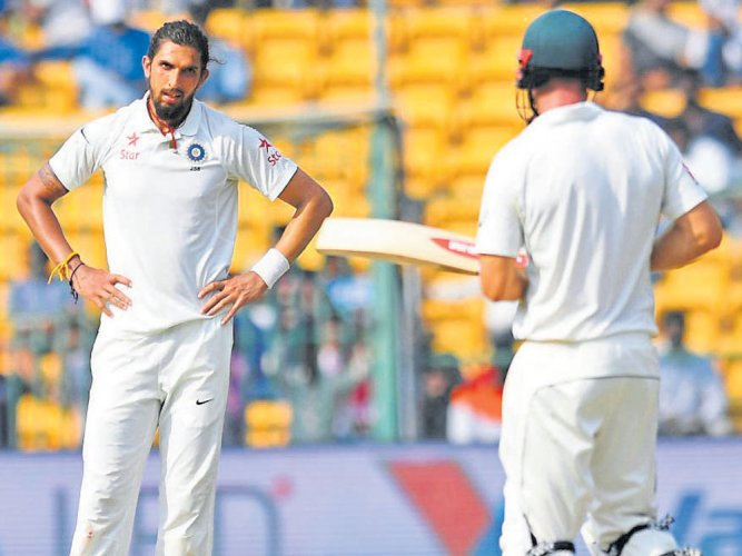 After heated argument, Sharma gets the better of Renshaw