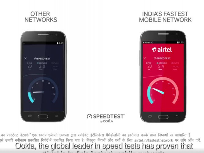 Airtel hits back at Jio on speed ad with Ookla backing