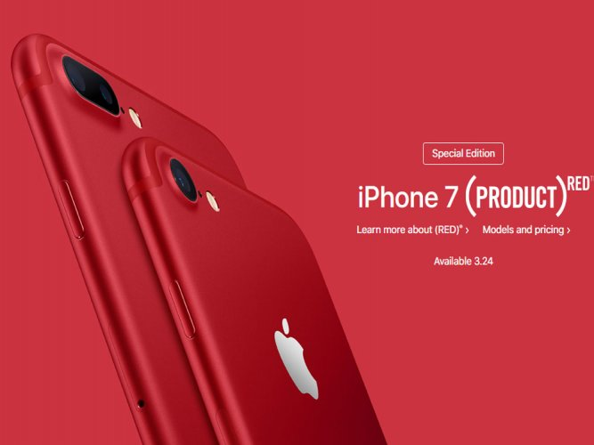 Apple to sell special RED edition of iPhone 7 in India from April