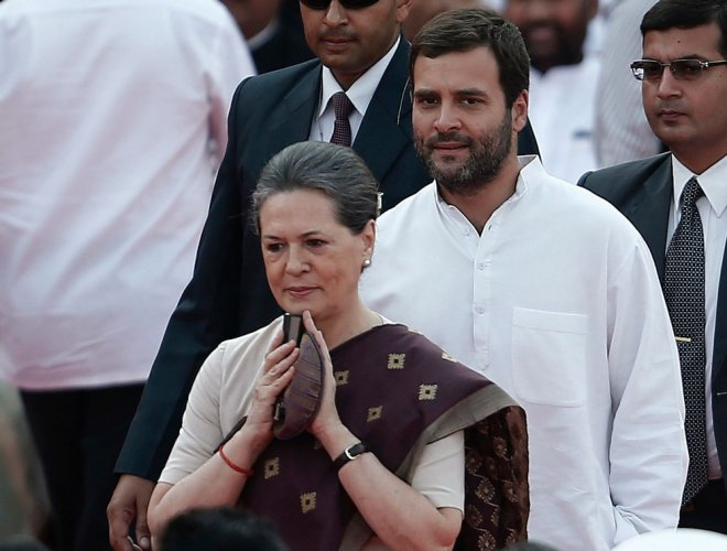 Sonia returns home, Rahul accompanies her