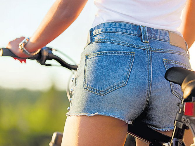 It's hot outside! Let her wear those shorts...