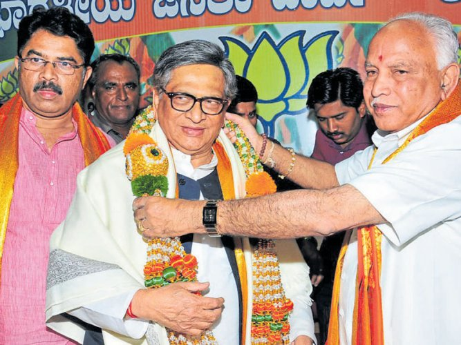 Krishna arrives in city to grand welcome by BJP state unit