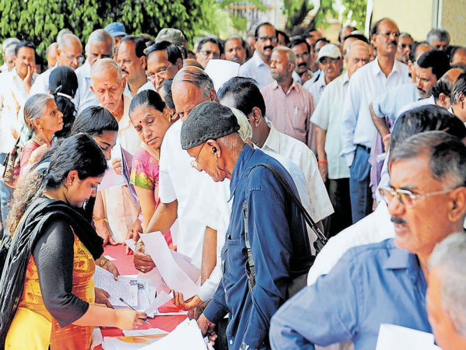 Spirited turnout at job fair for senior citizens