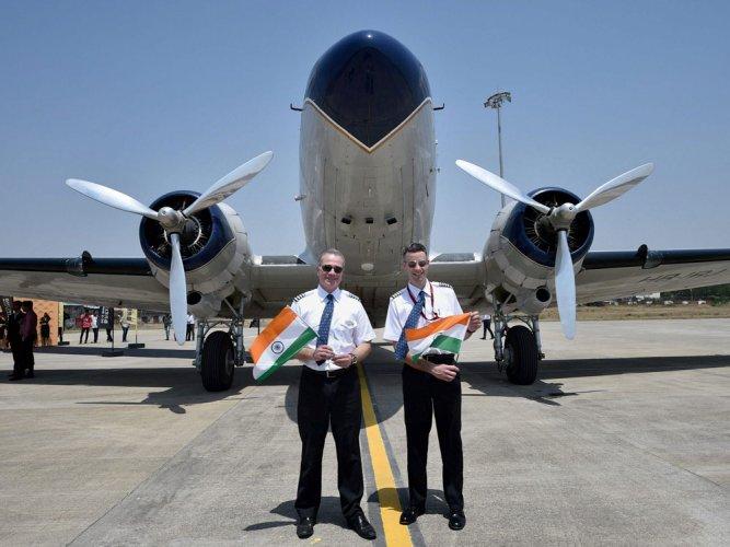 Oldest plane circumnavigating the globe lands in Nagpur