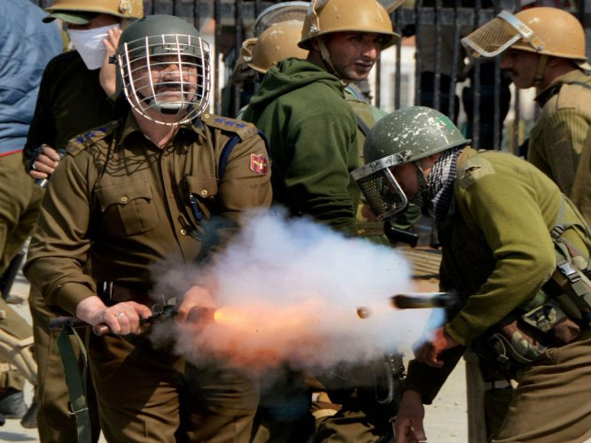 Now a grenade with spicy jelly to tackle protests in J&K