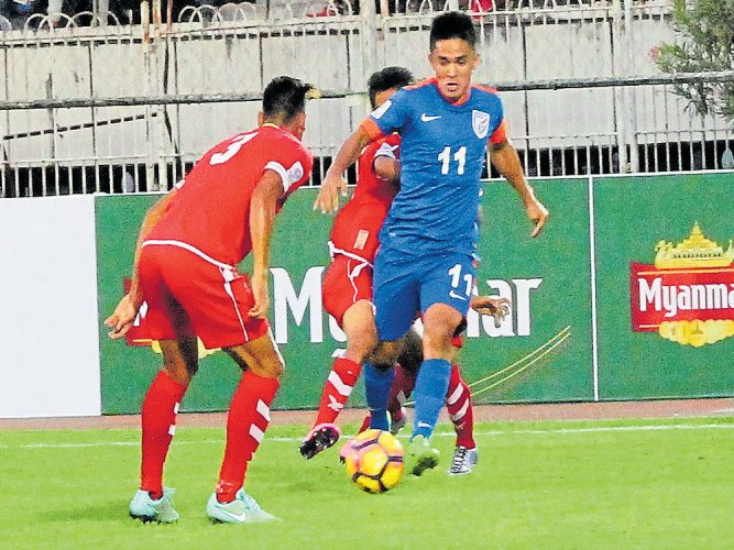 India break jinx, beat Myanmar