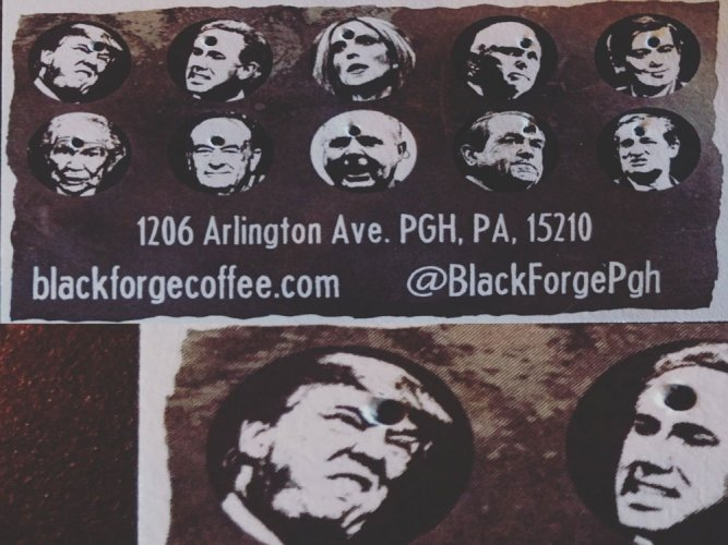 US coffee shop introduces 'punch hole in Trump's head' cards