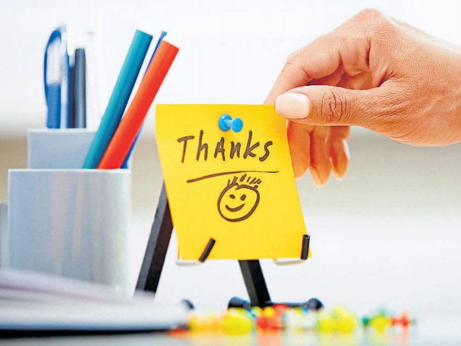 Take a minute to smile and say thank you!