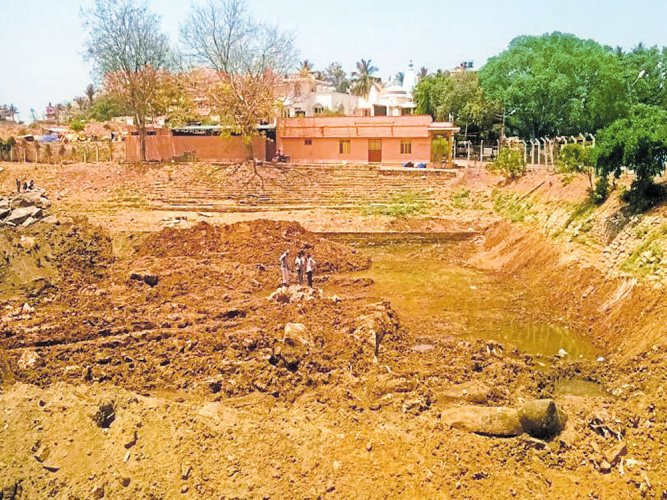 Saved from land mafia, temple tank getting a makeover