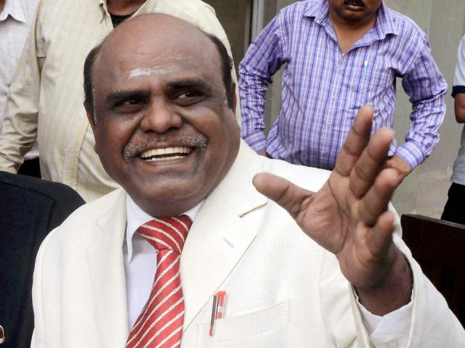 Justice Karnan appears before SC bench